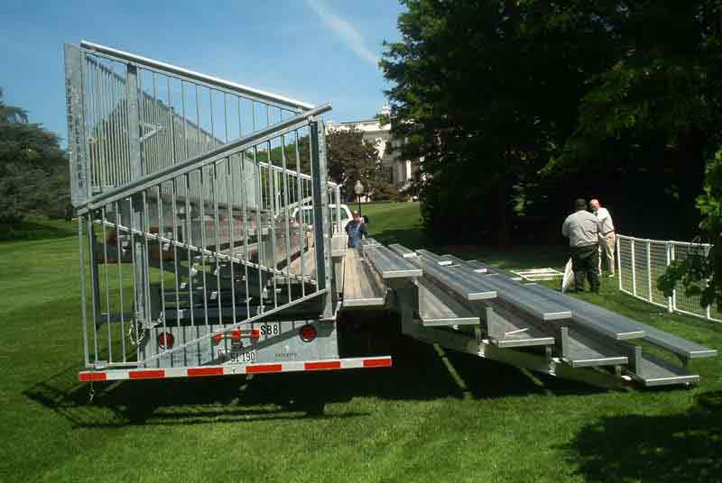 Mobile Bleachers Setup